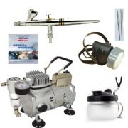 Airbrushing set <br /> Harder and Steenbeck Evolution 2in1 0.2mm,0.4mm nozzles  & 2ml,5ml paint cups